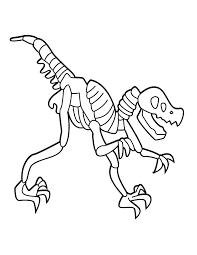 T Rex Skeleton Coloring Page Az Coloring Pages Stitch It