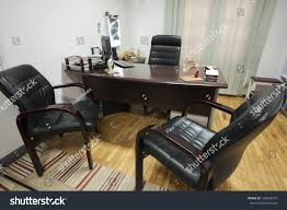 Doctor Consultation Room Design Consultation Room Doctors Surgery Desk Chairs Stock Photo