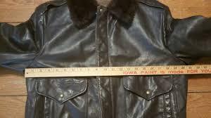 vintage g 1 style leather er flight jacket