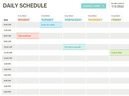 Sample Agenda Calendar Awesome Daily Schedule Template Printable Daily Planner Template Excel