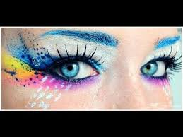 crazy rainbow make up