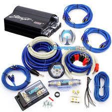 5 farad car audio capacitors pkg stinger spc505 digital 5 farad capacitor 8000w 0 gauge amplifier wire kit