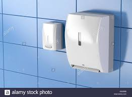 paper towel dispenser for home bathroom. Paper Towel Dispenser And Soap In Public Toilet For Home Bathroom A
