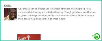should cell phones be allowed in school debate on cellphones  go