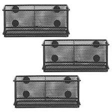 office storage baskets. mygift wire mesh magnetic storage baskets office supply organizer set of 3 black