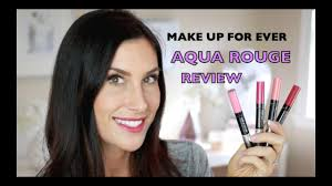 make up for ever aqua rouge waterproof liquid lip color review