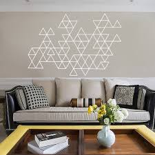 Home Decoration Accessories Wall Art Mesmerizing Home Decoration Accessories Wall Art Creative Geometric Vinyl Wall