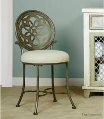 vanity stool make up chair dressing room stool french vintage style padded seat
