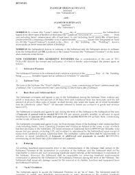 Apartment Sublease Template Sublease Form Ohye Mcpgroup Co