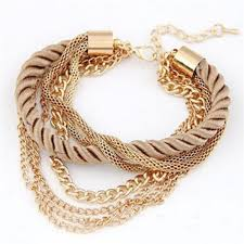 <b>Free Shipping Fashion</b> Multilayer Charm Bracelet Exaggerated Gold ...