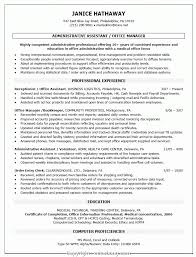 Top Free Office Manager Resume Samples Administrative Assistant Or