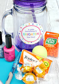 fill a jar fill of fun bright stuff and give it to a friend