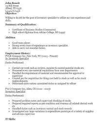 Employment Specialist Resume Interesting 48 Free Sample Inventory Control Specialist Resumes Best Resumes 48