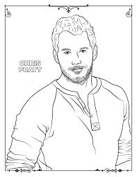 Chris Pratt Coloring Page Free Printable Coloring Pages For Kids