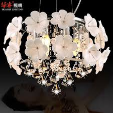 hot handmade glass flower chandelier light pendant lamp crystal dining room lighting fashion hanging lamps for dining indoor lighting modern hanging