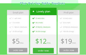 Pricing Table Templates 55 Examples Of Photoshop Pricing Table Template Tech Trainee