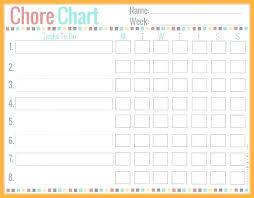 Toddler Chore Chart Template Kids Chore Template Allthingsproperty Info