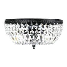 silver orchid 3 light crystal basket flush mount chandelier vintage mini crystal basket chandelier antique french