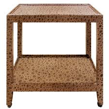 karl springer telephone table end table in embossed leather 1970s signed for at 1stdibs