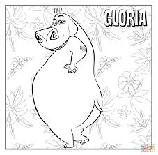 Small Picture Gloria The Hippopotamus coloring page Free Printable Coloring Pages