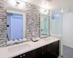 Backsplash for bathroom Mirror Grey And White Tile Bathroom Backsplash Ideas Next Luxury Top 70 Best Bathroom Backsplash Ideas Sink Wall Designs