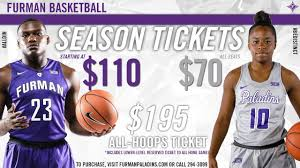 2018 19 Furman Basketball Season Tickets