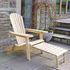 outdoor wooden chairs with arms. Trueshopping Garden Patio Adirondack Newby Arm Chair With Slide Away Leg Rest Natural Wood Finish Outdoor Or Indoor Use: Amazon.co.uk: \u0026 Outdoors Wooden Chairs Arms