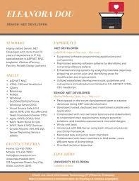 Sql Server Developer Resumes Senior Net Developer Resume Example