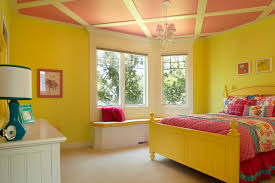 Inspiration For A Timeless Girl Carpeted Kidsu0027 Room Remodel In Grand Rapids  With Yellow Walls