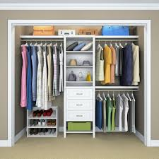 closetmaid impressions 25 in w white standard closet kit 14865 inside mesmerizing closet organizers home depot for your home design