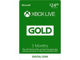 xbox live 3 month gold membership digital code plus free 10 xbox gift card 21 99 reg 24 99