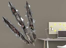 jurassic world dinosaur ripping wall decal
