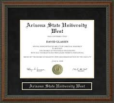 arizona state university west asu west diploma frame wordyisms arizona state university west asu west diploma frame