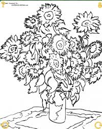 Small Picture Sunflowers by Claude Monet coloring page Art Coloring Fine Art