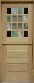 dd223 sg stained glass dutch door
