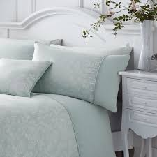 serene ebony jacquard duvet cover sets duck egg