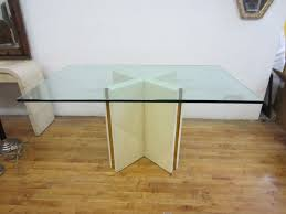 square glass top coffee table height