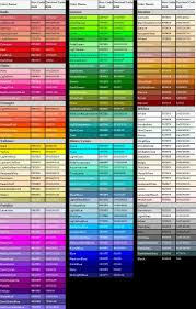 Web Color Chart Names Html Color Chart In 2019 Web Colors Color Names Chart
