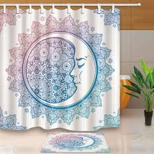 shower curtain indian mandala bathroom curtains bohemian decorations geometric printed waterproof moldproof with 12 hooks shower curtains