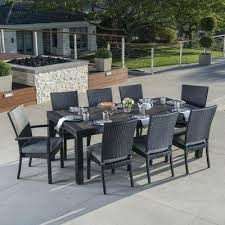 9 piece patio dining set adorable of in espresso reviews intended f85