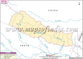 nepal river map, rivers in nepal Nepal India Map river map of nepal nepal india border map
