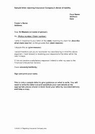 Insurance Claim Denial Letter Sample Green Brier Valley