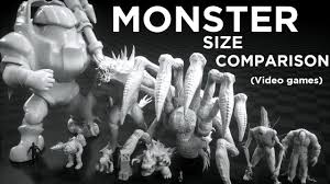 Monster Height Chart Monsters Size Comparison Video Games