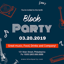 Modern Block Party Invite Template Postermywall