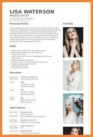 bio template professional makeup artist resume