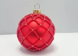 Christbaumschmuck Weihnachtskugel In Glasperlen Netz