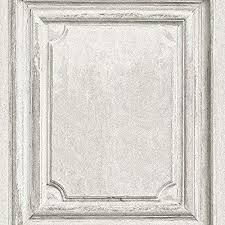 white wood door. Rasch Wooden Door Pattern Wallpaper Faux Wood Effect Panel Textured (White 524444) White