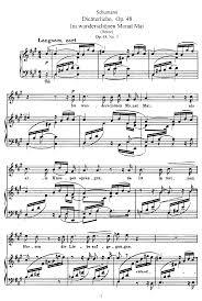 ich grolle nicht sheet music dichterliebe op 48 schumann robert imslp petrucci music