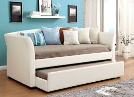 faux leather daybed cm1956wh