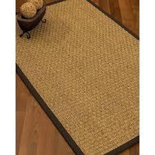 basket weave rug border hand woven brown area rug bleached ivory basket weave jute rug